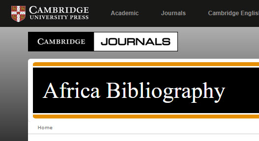 Africa Bibliography screenshot